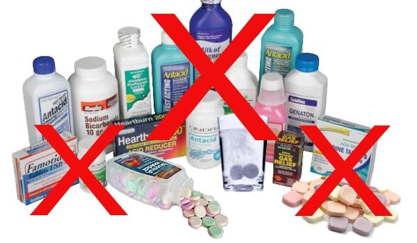 Non aux antiacides et médicaments contre le RGO